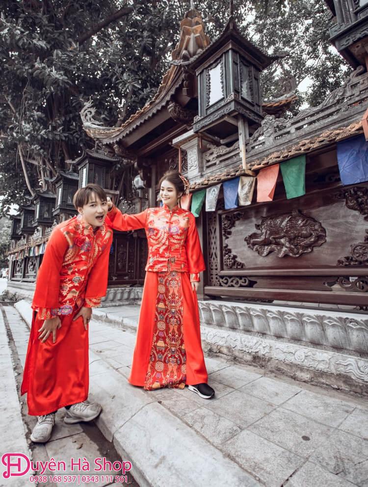 đường phố địa điểm chụp ảnh cưới áo khỏa trung hoa đẹp